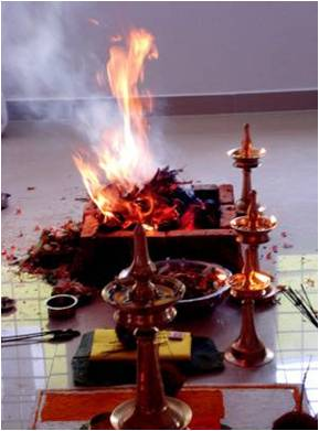 In India the fire still plays an important role in worship