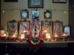 After Lakshmi Puja for health and happiness