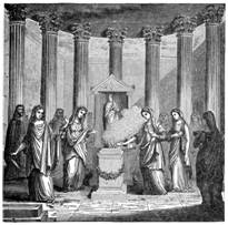 In ancient Rome the fire was also worshipped